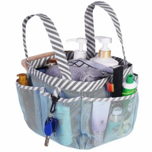 Haundry Mesh Shower Caddy Tote, Portable College Dorm Shower Caddy Bag 8 Large Pockets Camping Gym Bathroom