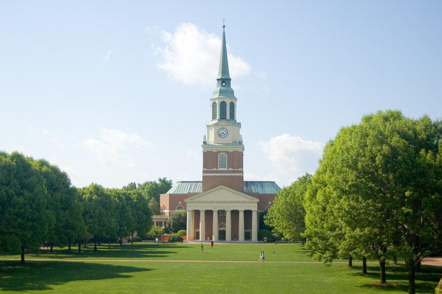Wake Forest University Campus Photo